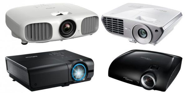 4 projektorer