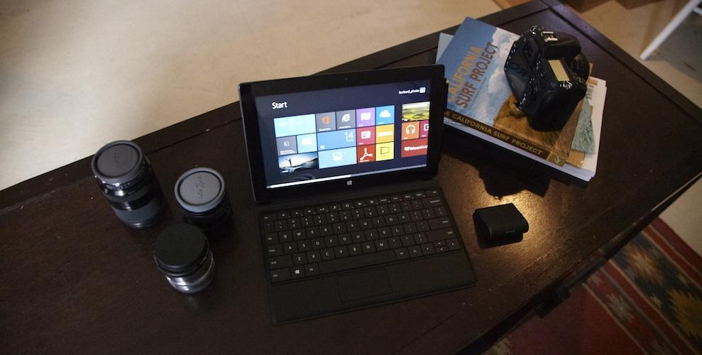 test microsoft surface pro lyd billede. Black Bedroom Furniture Sets. Home Design Ideas