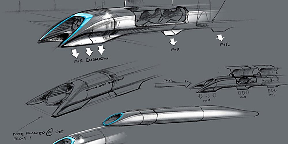 Elon Musks oplæg til Hyperloop fra 2012.