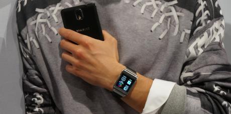 Samsung Galaxy Gear kan blandt andet bruges sammen med Galaxy Note 3.
