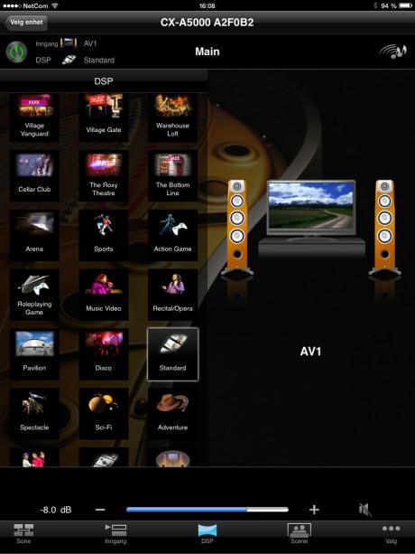 App'en AV Controller giver let adgang til bl.a. lydindstillinger.