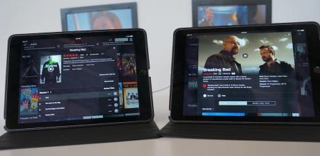 Her kan man se, hvordan præsentationen af serien Breaking Bad tager sig ud i henholdsvis den gamle brugerflade (til venstre) og den nye, der muligvis rulles ud til alle Netflix-brugere til sommer (til højre).