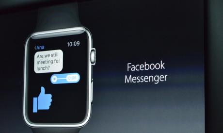 Facebook Messenger kommer snart til Apple Watch. Foto: Apple