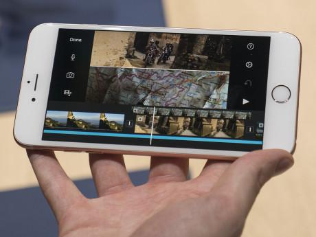 Ikke nok med, at det nye iPhone 6S-kamera kan filme i 4K-opløsning, telefonen er også kraftfuld nok til, at man kan redigere den højtopløste video direkte på mobilskærmen. Foto: Jonas Ekelund, Lyd & Billede