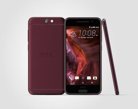 I begyndelsen af 2016 bliver den også tilgængelig i Deep Garnet Red som vist her på billedet. Foto: HTC