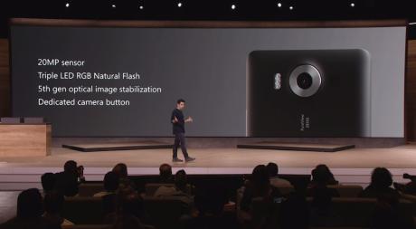 Kameraet i de nye Lumia-modeller får en billedsensor på 20 MP med optisk billedstabilisering. Foto: Microsoft