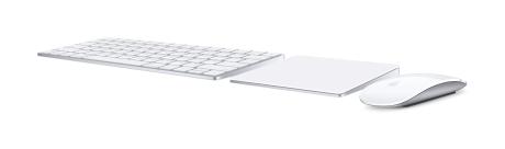 Magic Keyboard, Magic Trackpad 2 og Magic Mouse 2. Foto: Apple