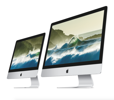 Begge iMac-størrelser fås nu med Apples såkaldte Retina-skærm. Foto: Apple