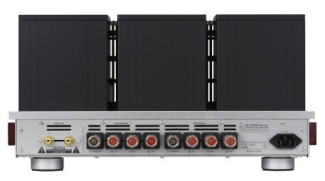 Der er udgange for 4, 8 og 16 ohms højttalere på Luxman MQ-300. Foto: Luxman