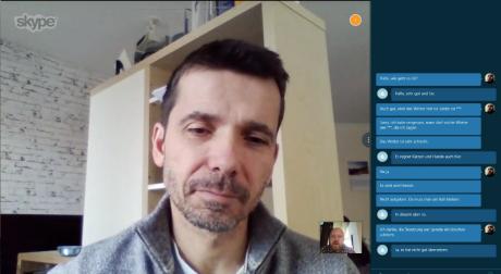 Når man taler, viser Skype Translator også det sagte som tekst i skærmbilledets højre side. Foto: Peter Gotschalk, Lyd & Billede