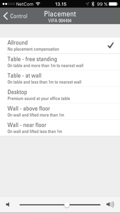 Enkelte justeringer kan gøres via app'en.