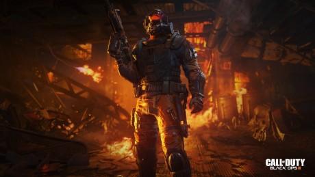 """Flammekasteren bruges i Call of Duty: Black Ops 3 af karakteren """"Firebreak"""". Foto: Treyarch"""
