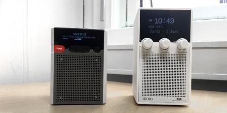 Sammenlignet med Pinell GO+ er Intono-radioen lidt højere. Vægten er akkurat den samme, noget som giver indtrykk af at Pinell er noget mere solidt bygget. Men Intono lyder bedre! (Foto: Geir Gråbein Nordby, Lyd & Billede)