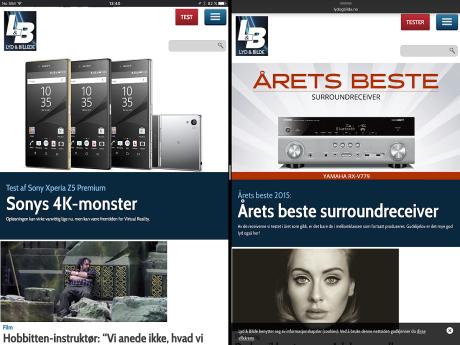 To browsere i fuld størrelse på skærmen samtidig! Foto: Jonas Ekelund, Lyd & Billede