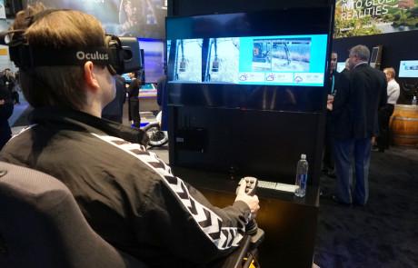 Ericsson demonstrede 5G-netværk ved at fjernstyre en rendegraver i Teaxas via VR. Deres udsendte fik en prøevtur. Foto: John Alex Hvidlykke / Ericsson