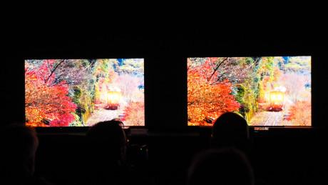 Her ser vi Panasonic DX900 i HDR-tilstand til venstre og med standard HD til højre. Bemærk, at forskellen er større med det blotte øje, da almindelige skærme mangler det ekstra dynamikområde.Foto: Audun Hage