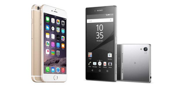 Sony Xperia Z5 Premium vs. iPhone 6s Plus