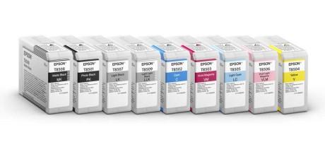 Med ni 80 ml patroner – heraf fire sorte og grå – er Epson-printeren fremragende til sort-hvide billeder. Foto: Epson