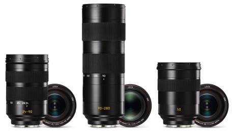 Af de tre annoncerede objektiver er det kun Vario-Elmar SL 24-90 mm f/2.8-4.0, der er tilgængeligt nu. Vario-Elmar SL 90-280 mm f/2.8-4.0 og Summilux SL 50 mm f/1.4 ASPH kommer først senere i 2016.(Foto: Producent)