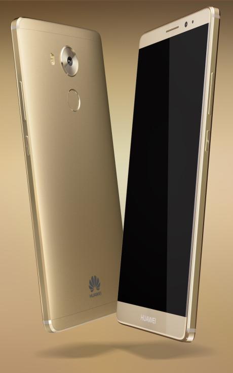 Mate 8 fås bl.a. i guld-farve. Foto: Huawei