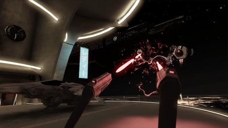 Det var dog en hel del sjovere at spille Space Pirate Trainer. Foto: HTC