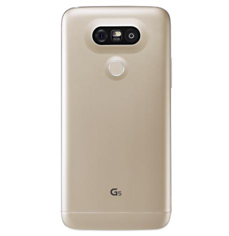 Der sidder to kameralinser på bagsiden af LG G5. Én almindelig på 16 MP og en 135 graders vidvinkel-linse på 8 MP. Foto: LG