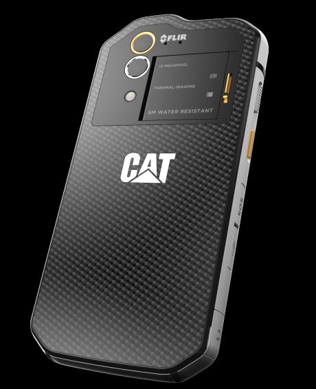 Der er både almindeligt (undervands-) kamera og infrarødt kamera i S60. Foto: CAT phones