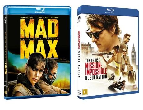 Mad Max: Fury Road, Mission: Impossible – Rogue Nation og Bølgen har alle Atmos-lydspor, og flere film er på vej. Foto: Producenterne