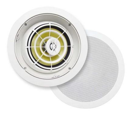 Du kan bruge højttalere specielt til indfældning i loftet. F.eks. fra SpeakerCraft eller Sonance. Foto: SpeakerCraft