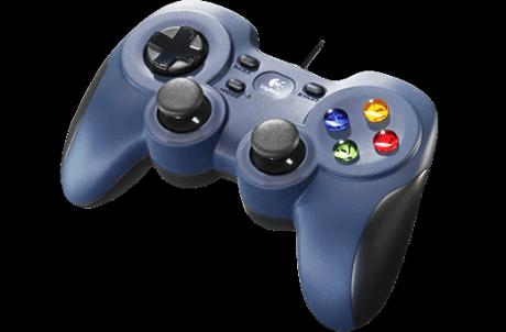 Med GameFly-tjenesten behøver du blot at slutte en controller, som denne Logitech F310, til dit fjernsyn for at kunne spille spil i konsolkvalitet. Foto: Logitech