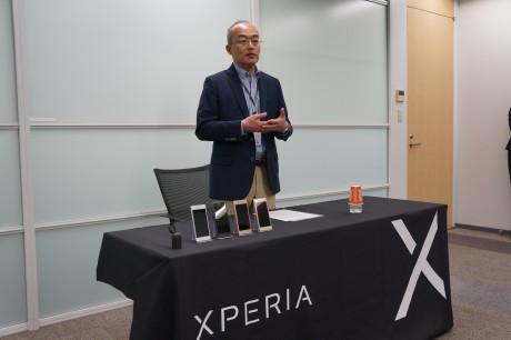 Hiroki Totoki, President and CEO Sony Mobile, fortæller om Sony Mobiles strategi for den kommende Xperia X-serie. Foto: Peter Gotschalk, Lyd & Billede