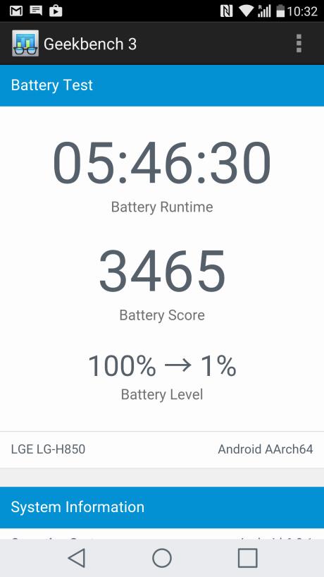 Batteritiden er ringere end på Samsung Galaxy S7.