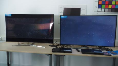 """Forskellen mellem et ægte HDR-TV og et """"SDR"""" fra sidste år er, som forventet, stor. Foto: Audun Hage, Lyd & Billede"""
