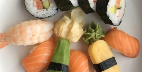 Sushi fotograferet ved god belysning. Foto: Jonas Ekelund, Lyd & Billede