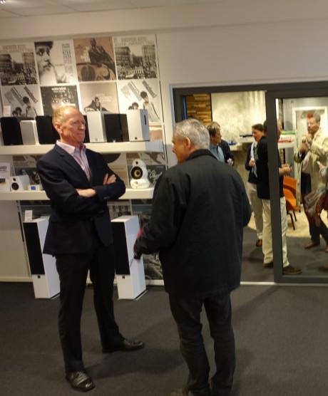 Også Hi- Fi Klubbens stifter, Peter Lyngdorf, var med ved åbningen i Hamburg. Foto: Hi-Fi Klubben