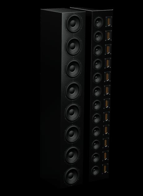32 højttalerenheder indgår der, når Torben Mikkelsen bedt om at lave den bedste højttaler overhovedet. Foto: FreQuence / Danish Audio Design