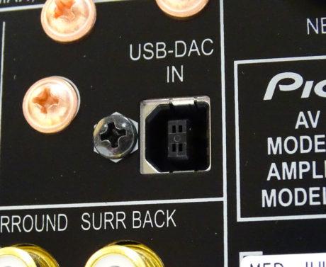 En asynkron USB-indgang på bagsiden tager over som lydkort for pc eller Mac. Den understøtter opløsninger helt op til 24 bit/192 kHz samt DSD. Foto: Geir Gråbein Nordby