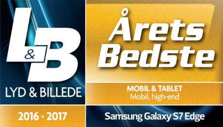 Samsung Galaxy S7 Edge er årets bedste high-end mobil 2016-2017.
