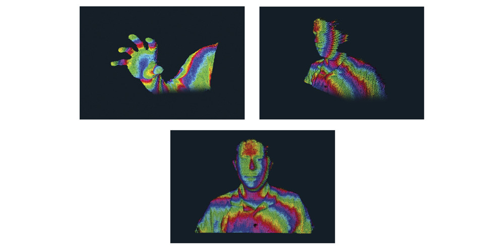 Kameraet scanner omgivelserne i 3D. Foto: Creative