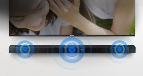 Selve soundbaren leverer 3.1 surround-lyd, men effekten udebliver lidt. (Foto: Producent)
