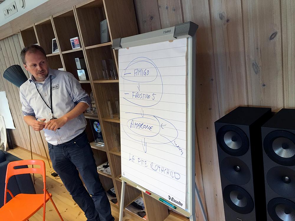 """""""Vi er Amarone!"""" forklarer Anders Ertzeid begejstret. Foto: Geir Gråbein Nordby, Lyd & Billede"""