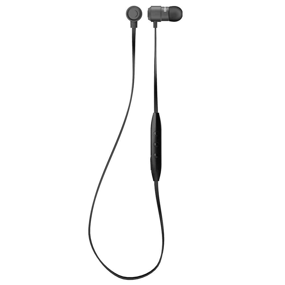 Byron BT trådløs Bluetooth, og styrer mobil på kablet. Både Android og iOS understøttes. Foto: Beyerdynamic