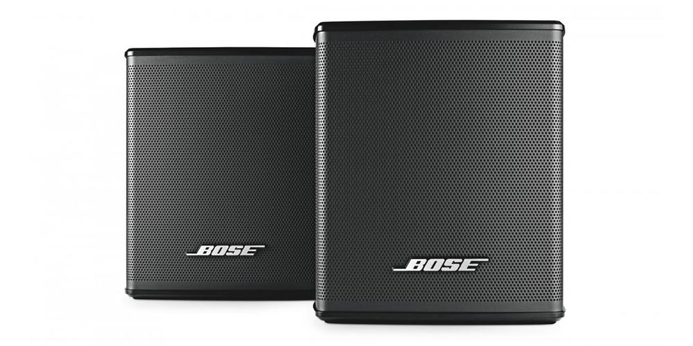 Hvad med et par trådløse Virtually Invisible 300 baghøjttalere for at få ægte surroundlyd? Foto: Bose