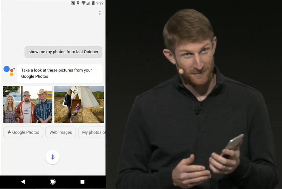 Integrationen med Google Assistant blev demonstreret udførligt. Foto: Google