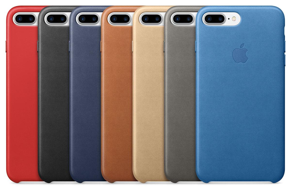 Nogle af Apples læderetuier. Foto: Apple