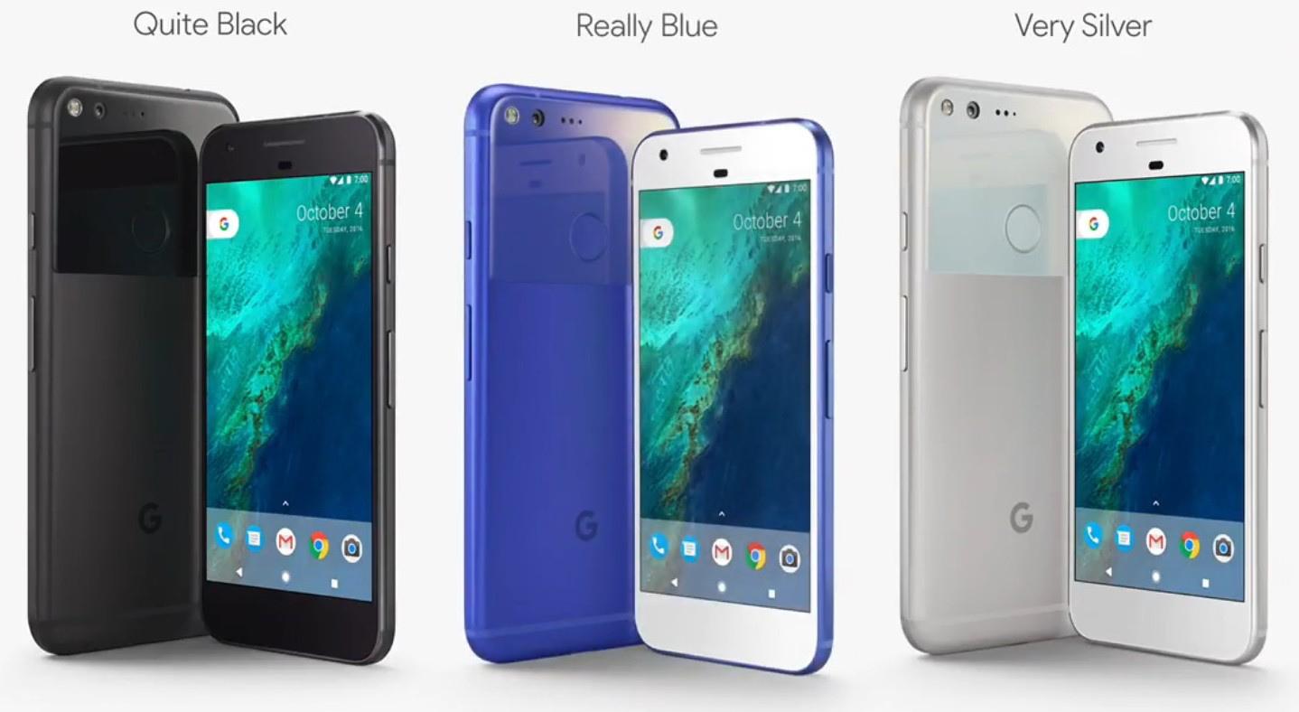 Pixel kommer i tre farver. Foto: Google