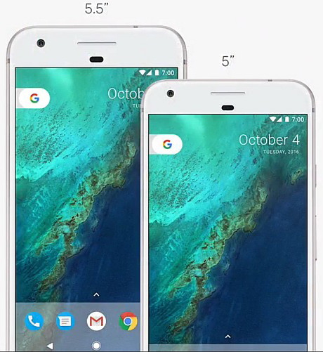 Pixel fås i størrelserne L og XL. Foto: Google