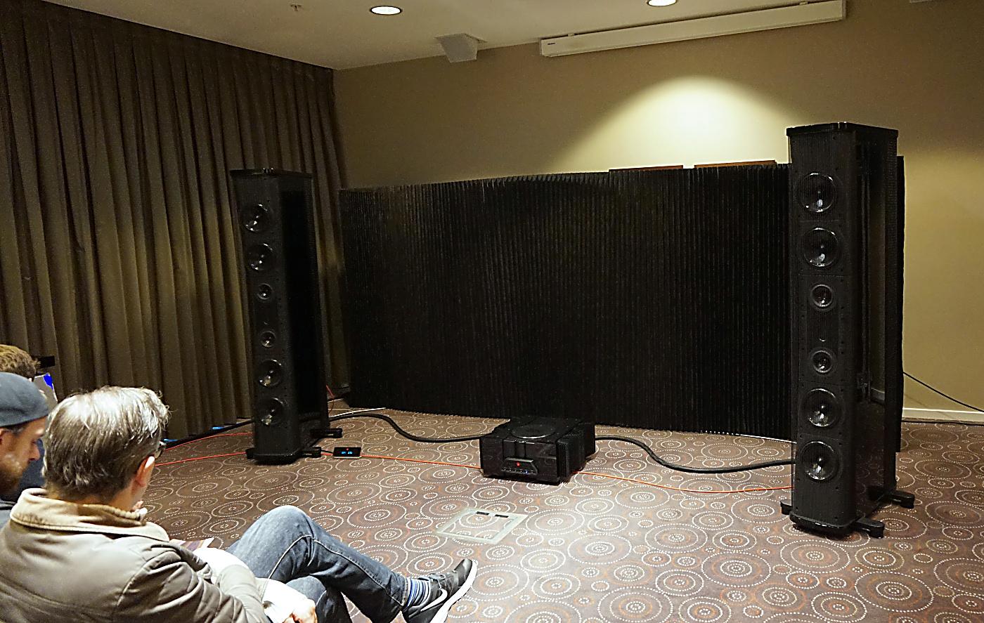 Der var run på Audiophiles stand, hvor man kunne høre danske Gryphon. Foto: John Alex Hvidlykke, Lyd & Billede