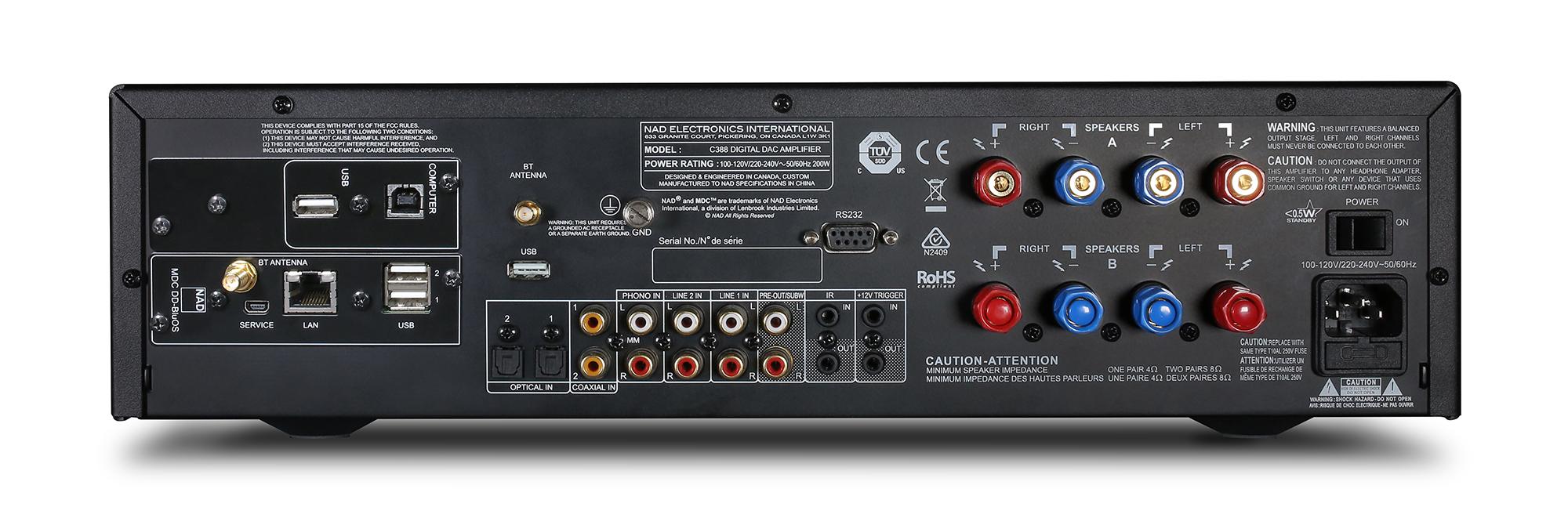Man kan tilføje nye funktioner MDC-indstiksmoduler, kendt fra NADs high-end-serie, Masters. Foto: NAD