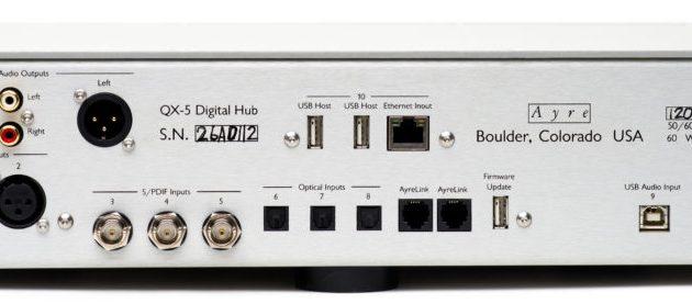Alle de indgange, man har brug for i en DAC, også Ethernet til netværkstilslutning.